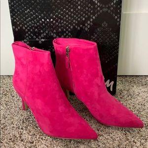 *Sam Edelman Women's Karen Fashion Boot Pink Suede